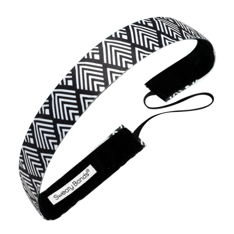 Deco Diamonds Black Sweaty Bands Non Slip Headband