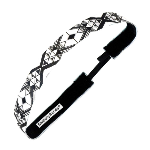 Diamond in the Rough | Black, White | 5/8 Inch Sweaty Bands