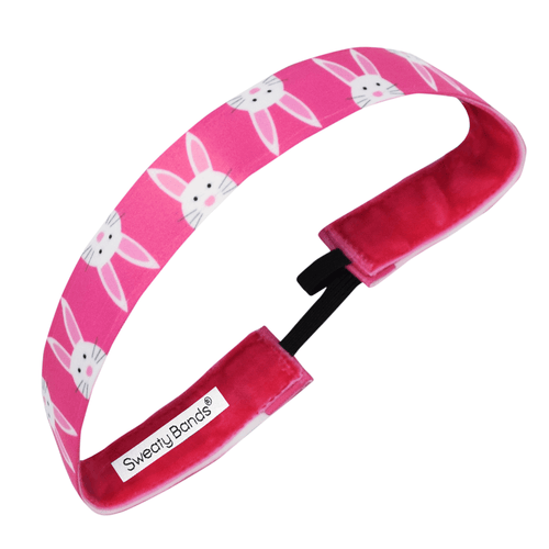 Easter | Hop To It | Pink | 1 Inch Sweaty Bands Non Slip Headband