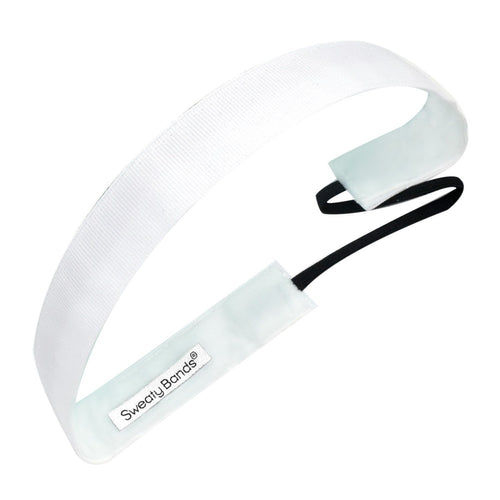 Eye Candy White Sweaty Bands Non Slip Headband
