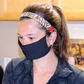 Face Mask | Black | Regular Sweaty Bands Non Slip Headband