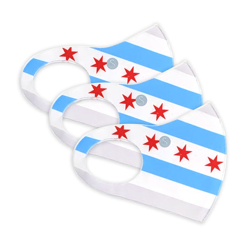Face Mask |  Extra | 3 Pack | Chicago Flag Sweaty Bands Non Slip Headband