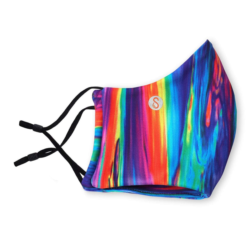 Face Mask | First | Rainbow Swirl Sweaty Bands Non Slip Headband