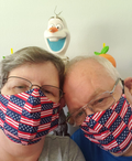 Face Mask | Home of the Brave | Red, White, Blue Sweaty Bands Non Slip Headband