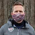 Face Mask | Home of the Brave | Red, White, Blue | XL Sweaty Bands Non Slip Headband