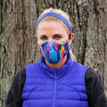Face Mask | Rainbow Swirl | Multi Sweaty Bands Non Slip Headband