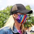 Face Mask | Rainbow Swirl | Regular Sweaty Bands Non Slip Headband