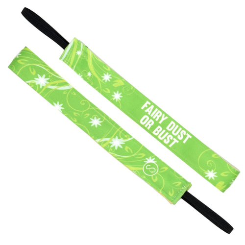 Fairy Dust or Bust Green Sweaty Bands Non Slip Headband