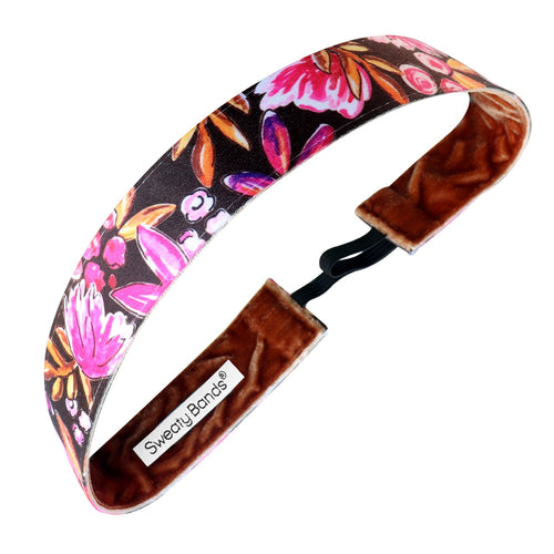 Fall Is In the Air | Chocolate | 1 Inch Sweaty Bands Non Slip Headband