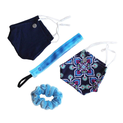 Gift Pack | Blue Skies Ahead Sweaty Bands Non Slip Headband