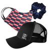 Gift Pack | Face Mask Home of the Brave  | Sweaty Baseball Hat with Buttons | Scrunchie Navy
