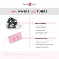Gift Pack | Face Mask Truth | Sweaty Baseball Hat with Buttons | Scrunchie Magenta Sweaty Bands Non Slip Headband