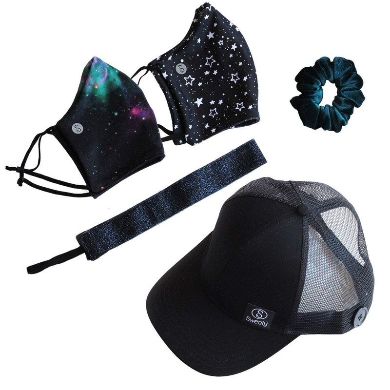 Gift Pack | International Sweaty Space Station with Sweaty Baseball Hat Sweaty Bands Non Slip Headband