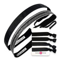Gift Pack | Paparazzi | Rock Solid Black | Black to Basics Hair Ties Sweaty Bands Non Slip Headband