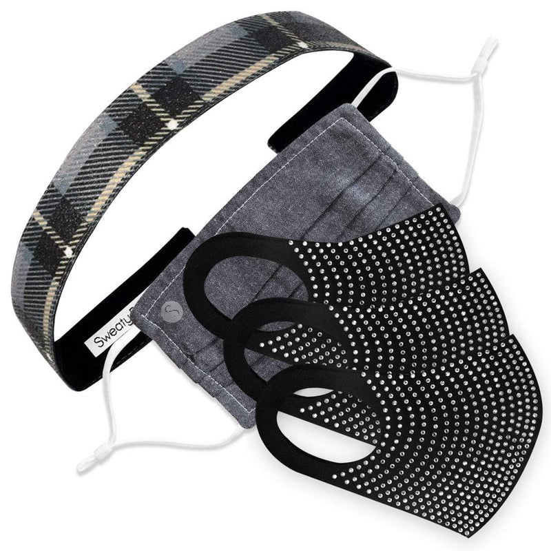 Gift Pack | Perfectly Plaid Sweaty Bands Non Slip Headband
