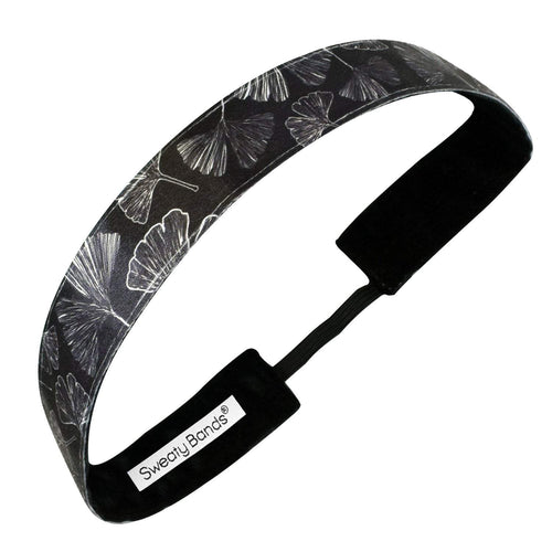 Gingko Leaves | Black | 1 Inch Sweaty Bands
