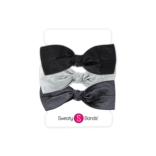 Hair Ties | Bows | Black, Gunmetal, Silver Sweaty Bands