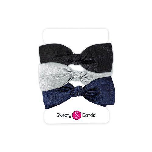 Hair Ties | Bows | Black, Navy, Silver Sweaty Bands