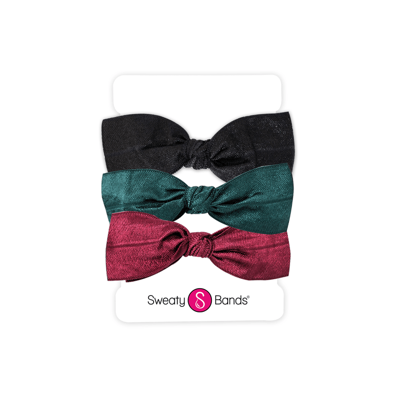 Hair Ties | Bows | Black, Spruce, Maroon Sweaty Bands