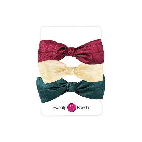 Hair Ties | Bows | Maroon, Champagne, Spruce Sweaty Bands