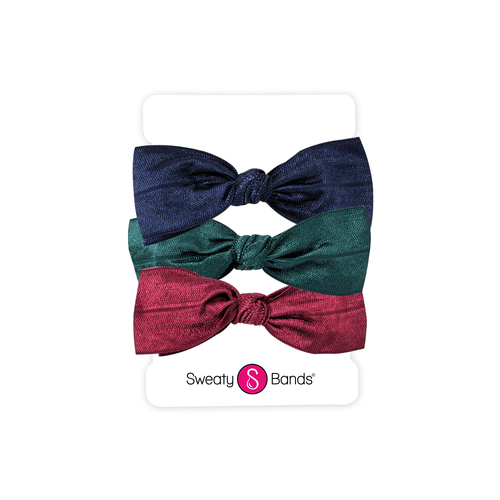 Hair Ties | Bows | Navy, Spruce, Maroon Sweaty Bands