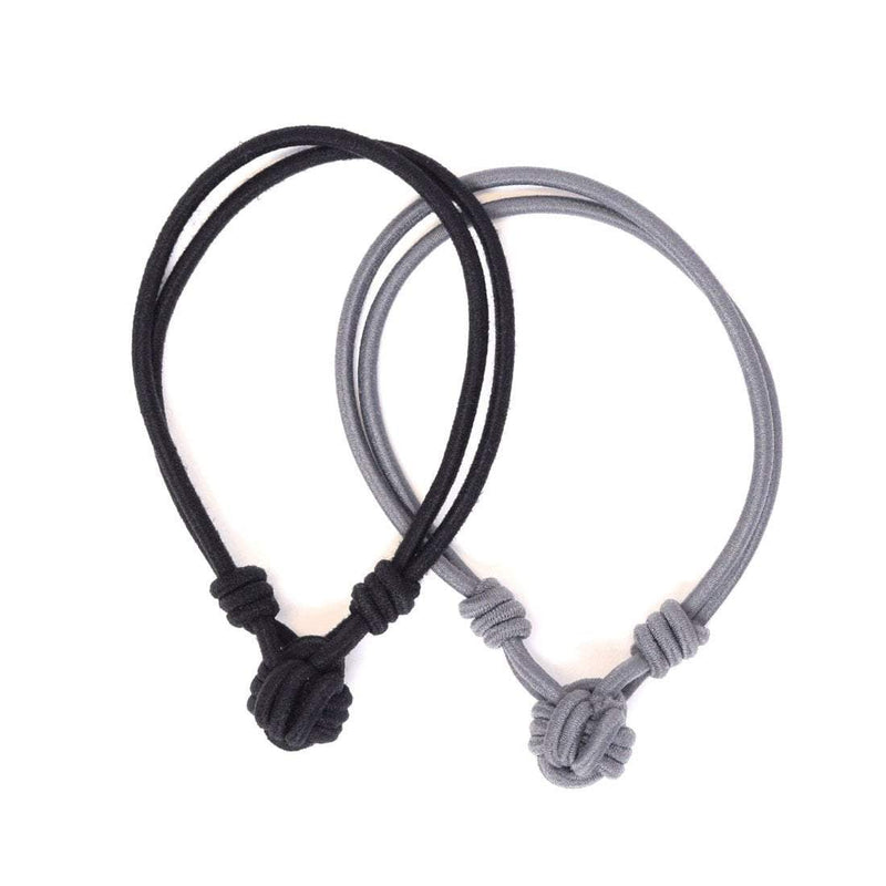 Hair Ties Knot Black, Charcoal Sweaty Bands Non Slip Headband