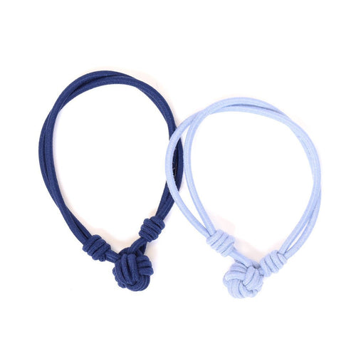 Hair Ties Knot Navy, Light Blue Sweaty Bands Non Slip Headband