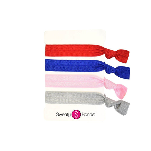 Hair Ties Patriotic Pink Sweaty Bands Non Slip Headband