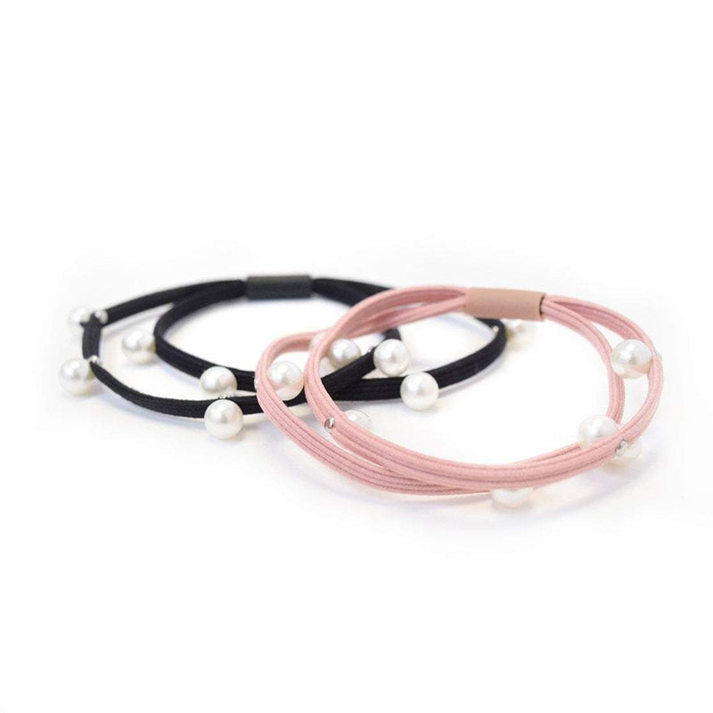 Hair Ties | Pearls | Black, Blush Pink Sweaty Bands
