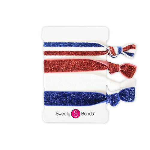 Hair Ties Sparkle USA Sweaty Bands Non Slip Headband