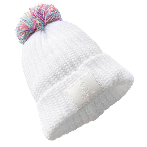 Hats | PomPom | White, Multi Sweaty Bands Non Slip Headband