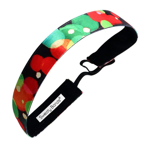 Holiday | Christmas Is In the Air | Red, Green | 1 Inch Sweaty Bands Non Slip Headband