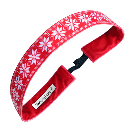 Holiday | Christmas Sweater | Red | 1 Inch Sweaty Bands Non Slip Headband