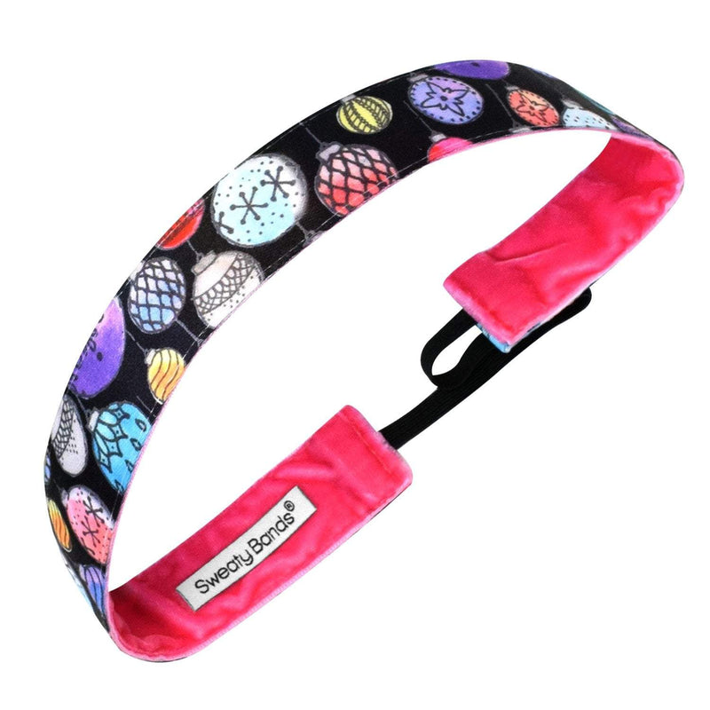Holiday | Deck the Halls | Black, Multi | 1 Inch Sweaty Bands