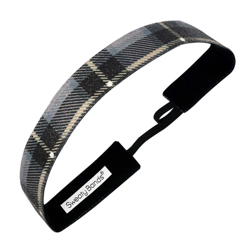 Holiday | Mad for Plaid | Shimmer | Black | 1 Inch Sweaty Bands