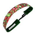Holiday | Meet Me Under the Mistletoe | Shimmer | Cranberry | 1 Inch Sweaty Bands