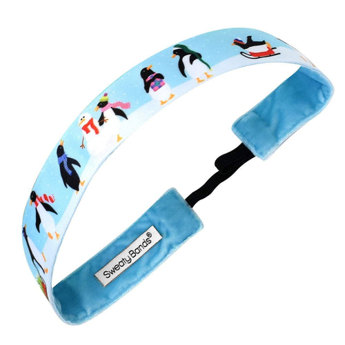 Holiday | Penguin Party | Light Blue, Multi | 1 Inch Sweaty Bands