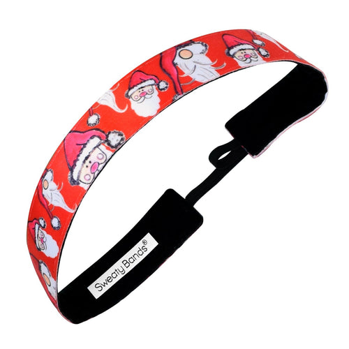 Holiday | Santa Baby | Red | 1 Inch Sweaty Bands