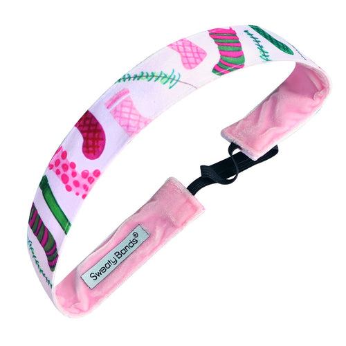 Holiday | Stuff Your Stockings | Blush, Multi | 1 Inch Sweaty Bands Non Slip Headband