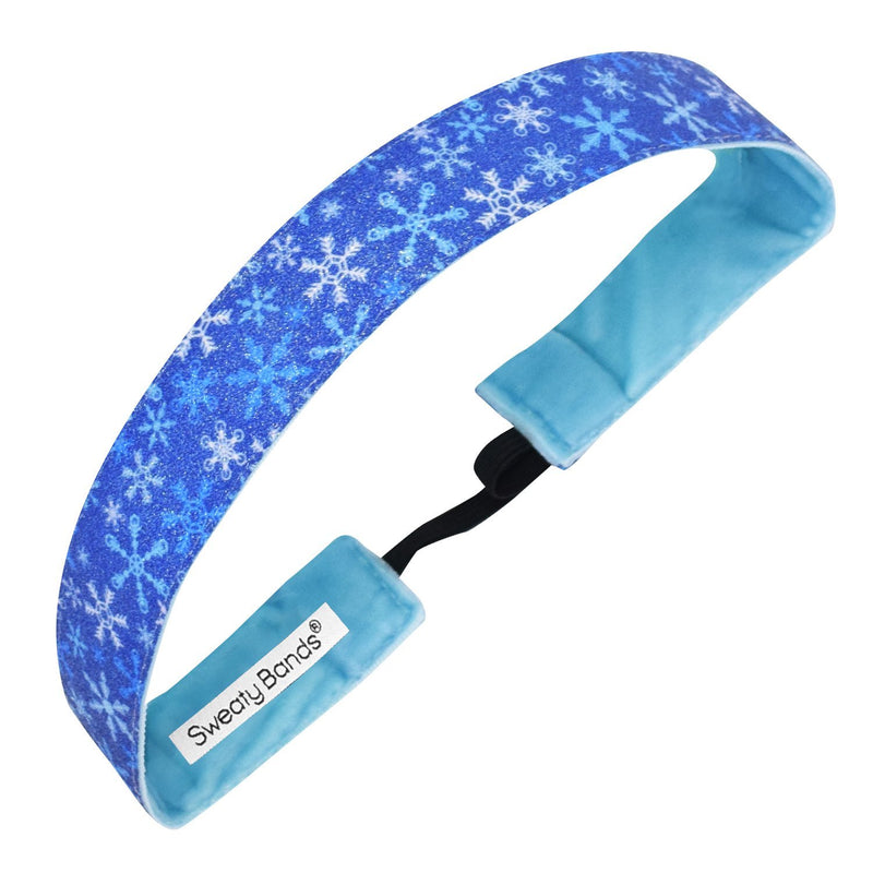 Holiday | Winter Wonderland | Shimmer | Blue | 1 Inch Sweaty Bands