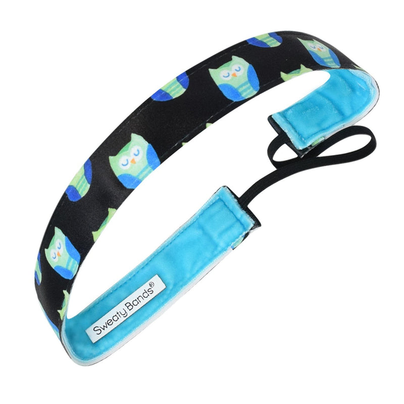 Hooty Tooty Owls Black Sweaty Bands Non Slip Headband