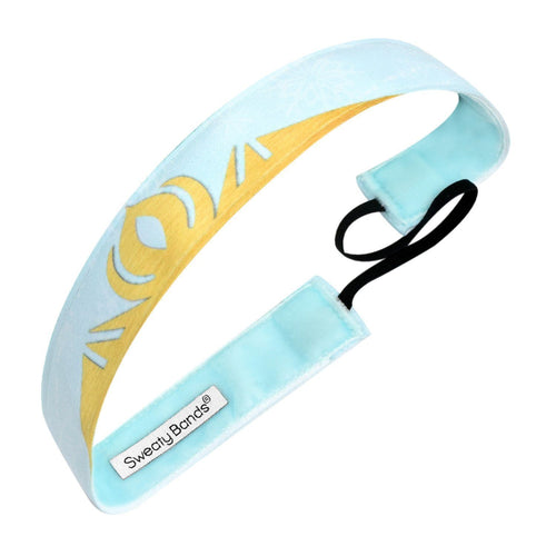 Ice Princess Blue Sweaty Bands Non Slip Headband