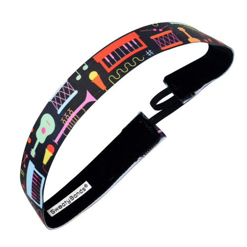 Instrumental | Black, Multi | 1 Inch Sweaty Bands