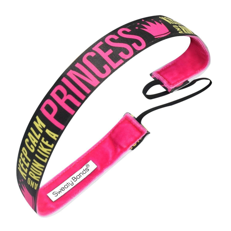 Keep Calm and Run Like A Princess Sweaty Bands Non Slip Headband