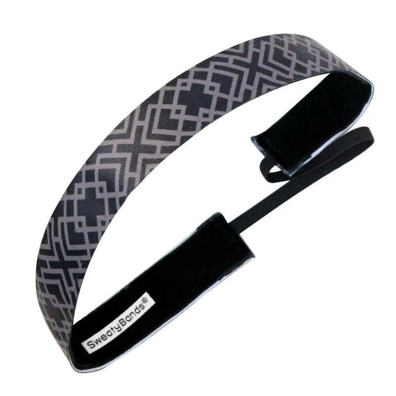 Less Is More Black Sweaty Bands Non Slip Headband