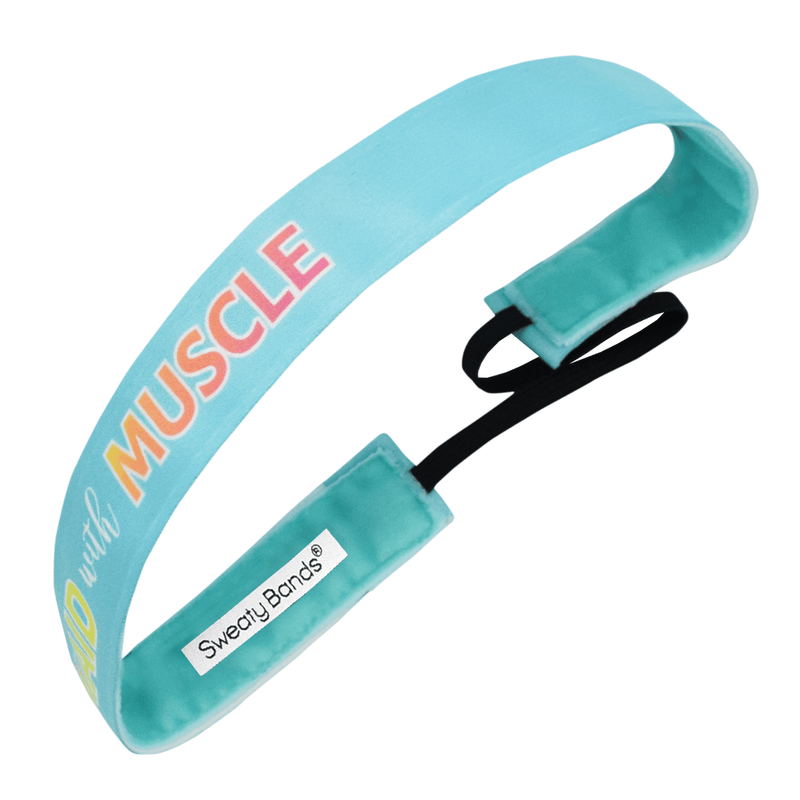 Mermaid with Muscle | Turquoise, Multi | 1 Inch Sweaty Bands Non Slip Headband