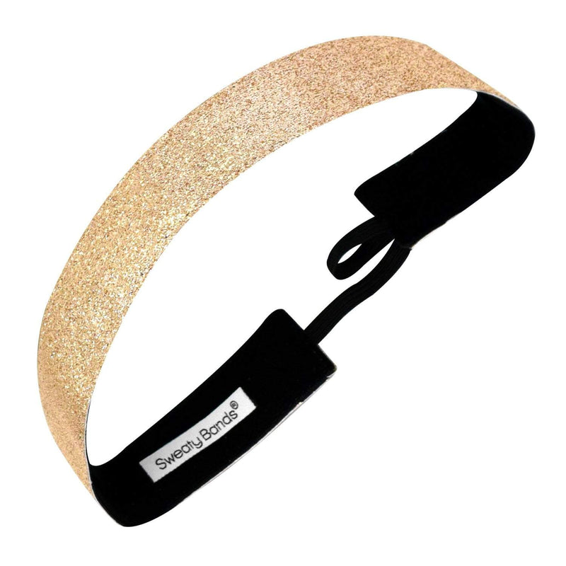 Metallic Shimmer | Gold | 1 Inch Sweaty Bands