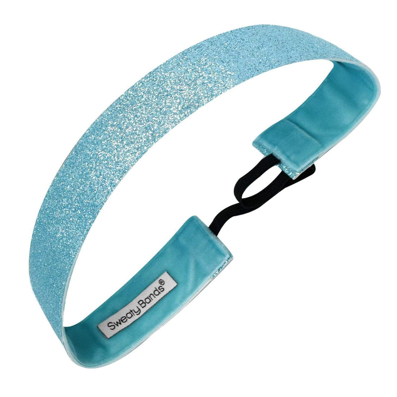 Metallic Shimmer | Light Blue | 1 Inch Sweaty Bands