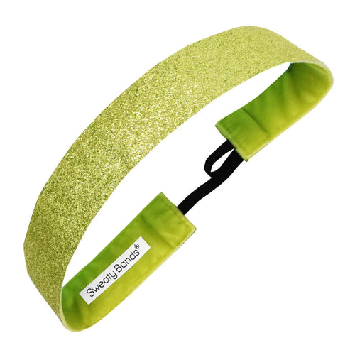 Metallic Shimmer | Light Green | 1 Inch Sweaty Bands Non Slip Headband