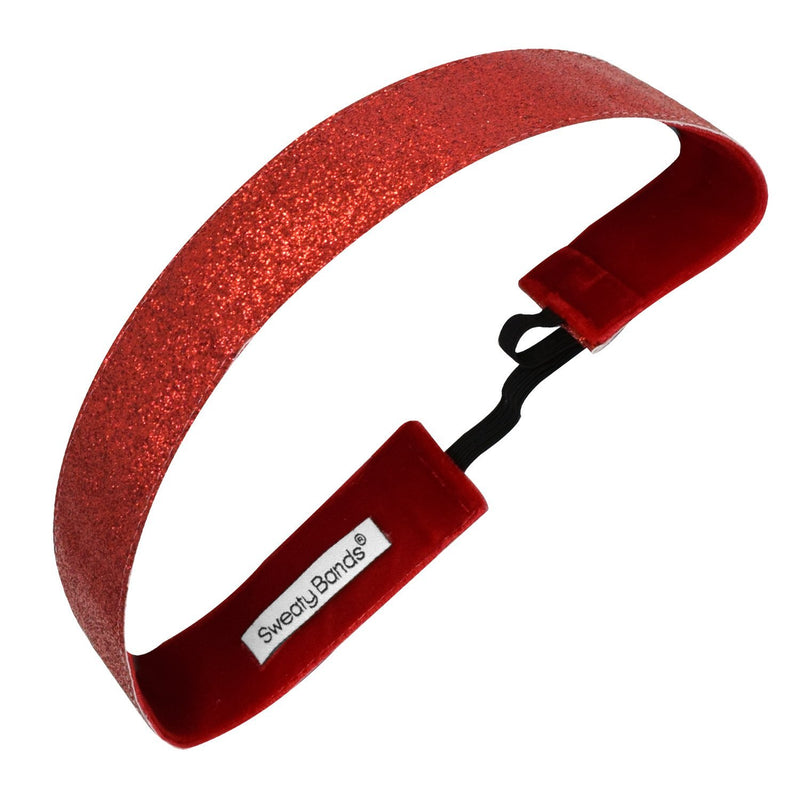 Metallic Shimmer | Red | 1 Inch Sweaty Bands